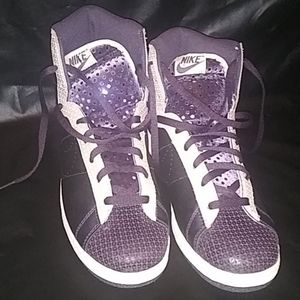 Women's Nike high top basketball sneakers